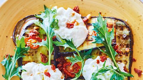 Burrata mit gerösteter Aubergine