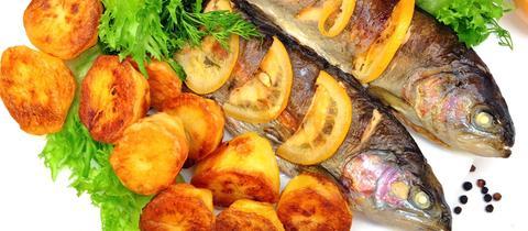 Forelle mit Bratkartoffeln