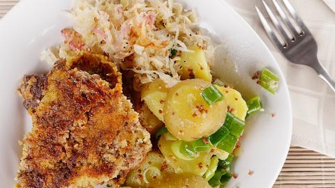 Kotelett mit Sauerkraut