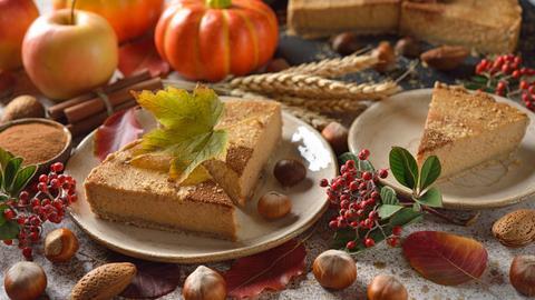 Kuchen aus Haselnuss und Kürbis