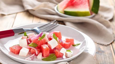 Melonen-Fetakäse-Salat