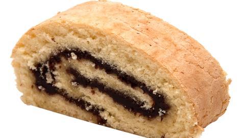 Wickelkuchen mit Schokolade