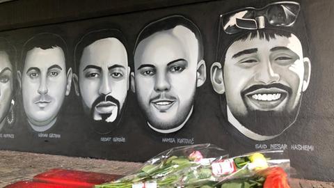 Graffiti für Hanauer Anschlagsopfer