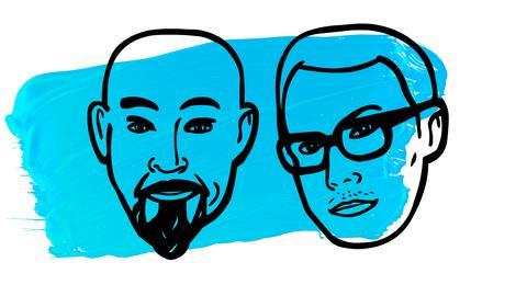 Käthe und Konrad - Logo blau