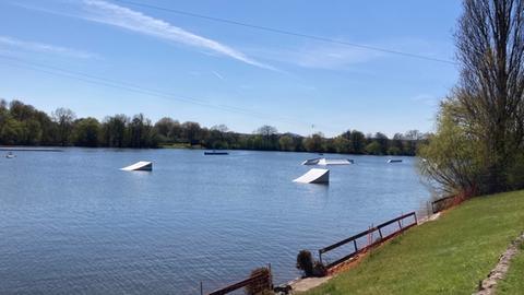 Simone Reuthals Lieblingsplatz ist die Wasserskianlage Heuchelheim.