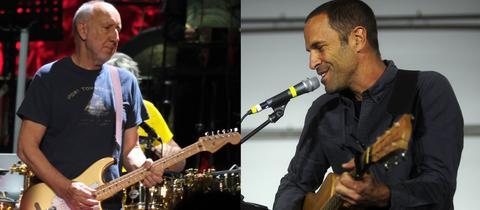 Pete Townshend (li.) und Jack Johnson
