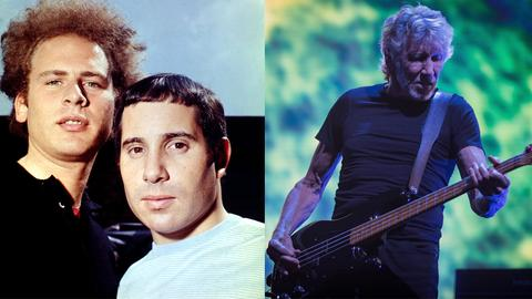 Simon & Garfunkel und Roger Waters von Pink Floyd