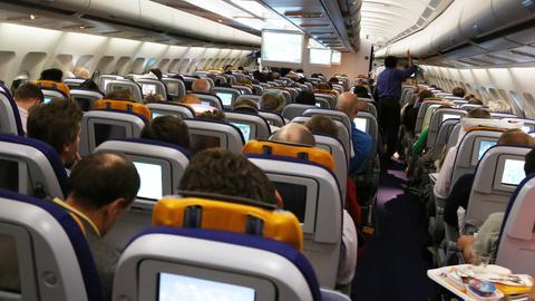 Kabine einer Lufthansa-Maschine
