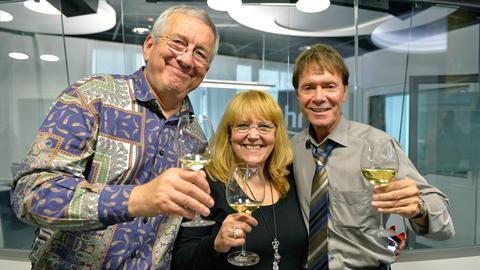 Cliff Richard bei Werner Reinke und Lidia Antonini