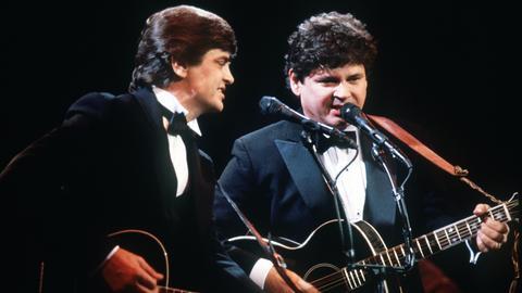 Die Brüder Phil (li.) und Don Everly im Jahr 1983 in London.
