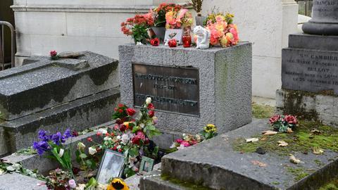 Das Grab von Jim Morrison in Paris