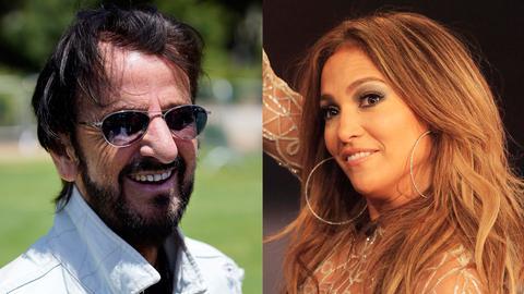 Ringo Starr und Jennifer Lopez