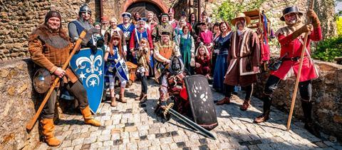 Ritter auf Schloss Alsbach