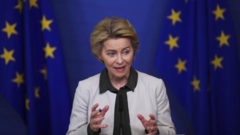 Die europäische Kommissionspräsidentin Ursula von der Leyen