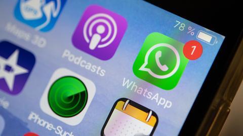 Neue Nachricht bei Whatsapp